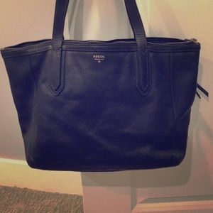 Fossil black Sydney shopper tote